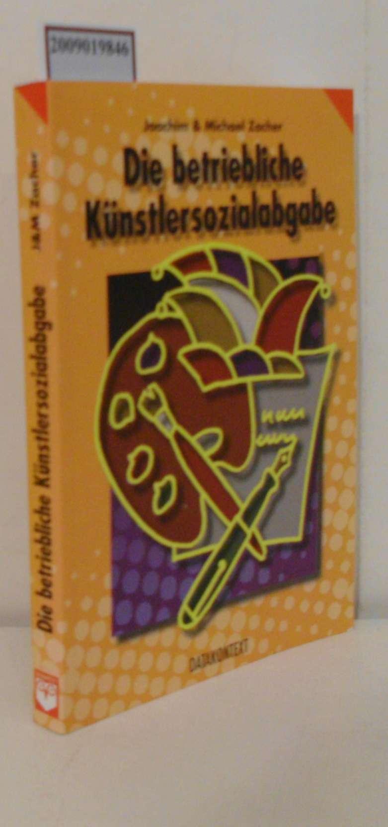 Betriebliche Künstlersozialabgaben 1998 Abgaben der Unternehmen für die Inanspruchnahme künstlerischer/publizistischer Leistungen/Werke