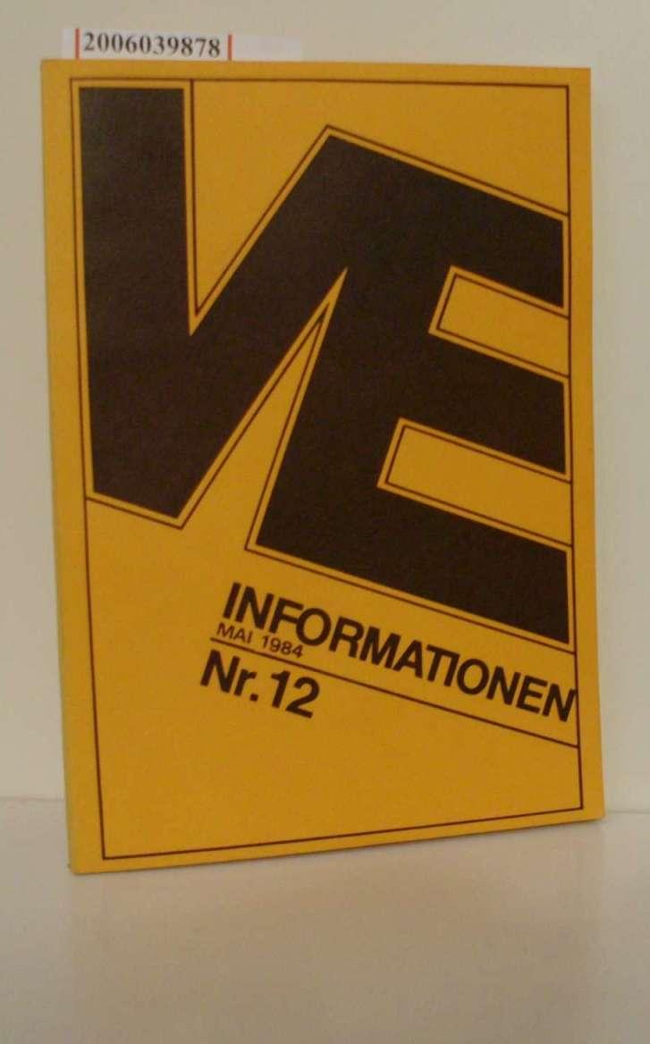 Vergleichende Erziehungswissenschaft - Informationen Nr. 12 * Mai 1984 Rundbrief der Kommission für Vergleichende Erziehungswissenschaft der DGfE - Deutsche Sektion in der Bundesrepublik Deutschland der CESE