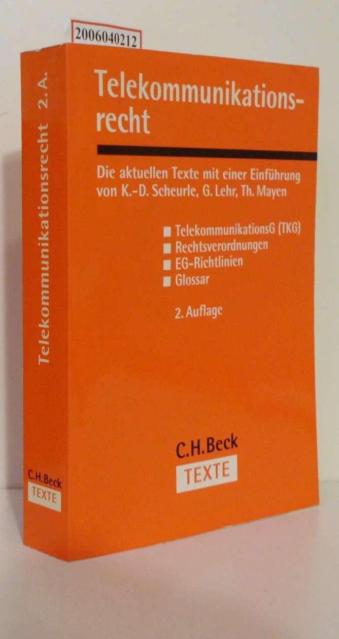 Telekommunikationsrecht Textausgabe