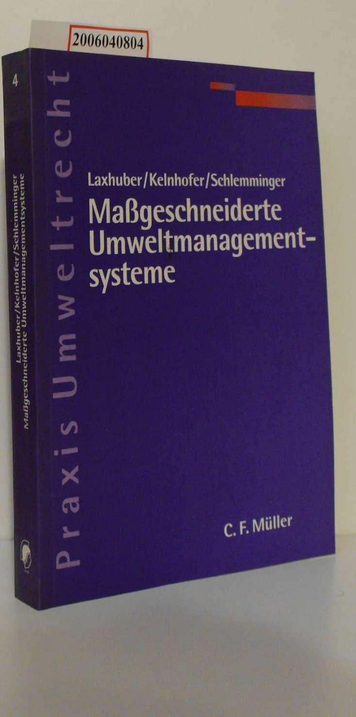 Maßgeschneiderte Umweltmanagementsysteme Praxis Umweltrecht 4