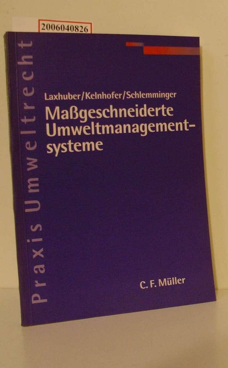 Maßgeschneiderte Umweltmanagementsysteme Praxis Umweltrecht