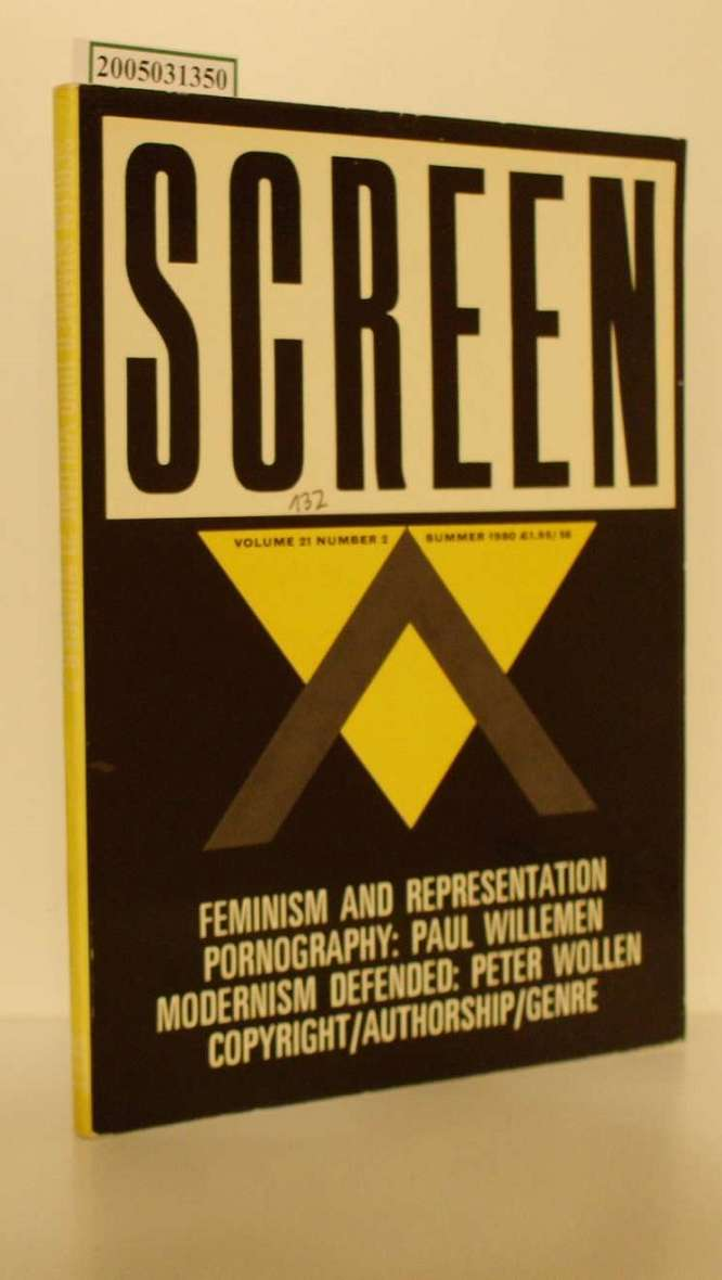 SCREEN. VOLUME 21 NUMBER 2 Includes : FEMINISM AND REPRESENTATION;PORNOGRAPHY: PAUL WILLEMEN