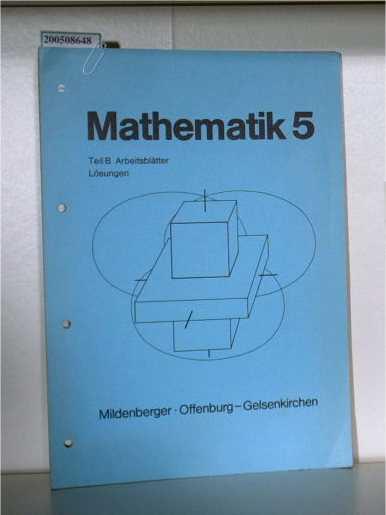 Mathematik 5 Arbeitsblätter Lösungen