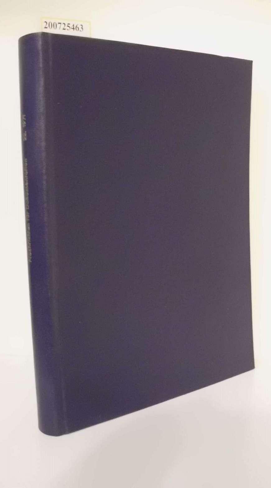 Nachrichten für Dokumentation herausgegeben von der Deutschen Gesellschaft für Dokumentation e. V. , 22.Jahrgang 1971 Zweimonatszeitschrift für Forschung und Praxis der Dokumentation