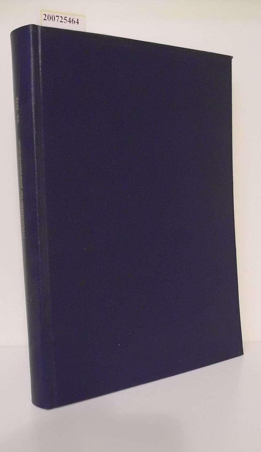 Nachrichten für Dokumentation herausgegeben von der Deutschen Gesellschaft für Dokumentation e. V. , 23.Jahrgang 1972 Zeitschrift für Information und Dokumentation
