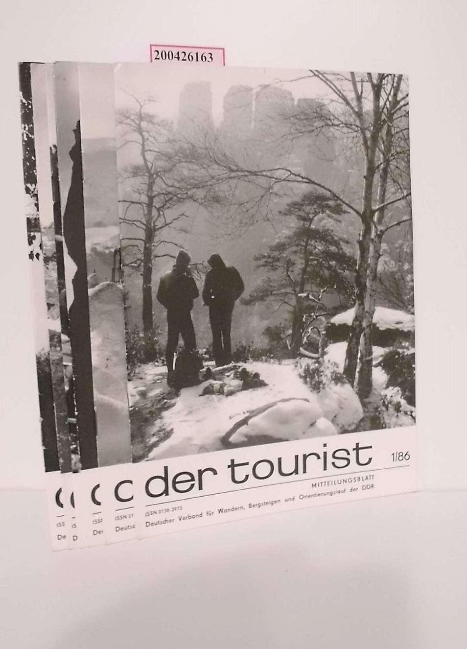 Der Tourist Nr. 1/86, 2/86, 3/86, 6/86, 7/86, 9/86. Mitteilungsblatt
