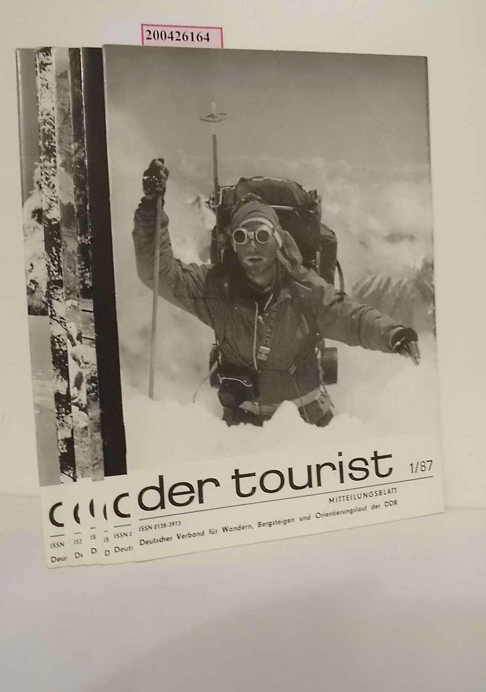 der tourist Nr. 1/87, 6/87, 7/87, 8/87, 10/87, 11 u. 12/87. Mitteilungsblatt
