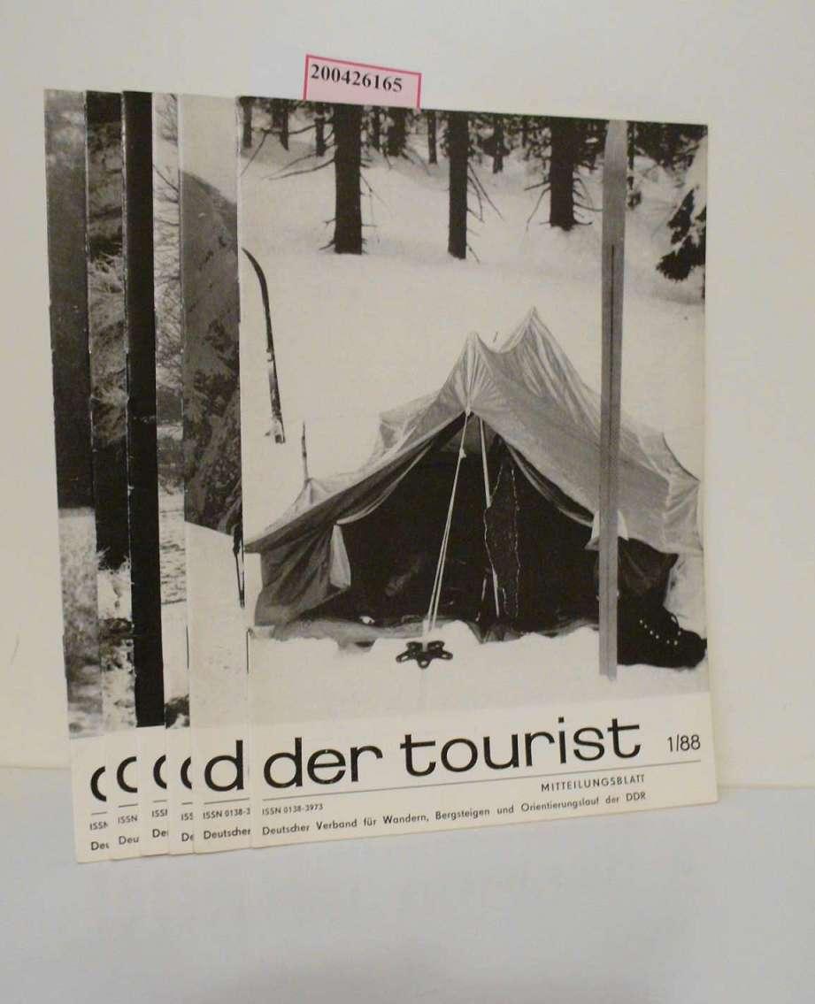 der tourist Nr. 1/88, 2/88, 3/88, 4/88, 5/88, 6/88. Mitteilungsblatt