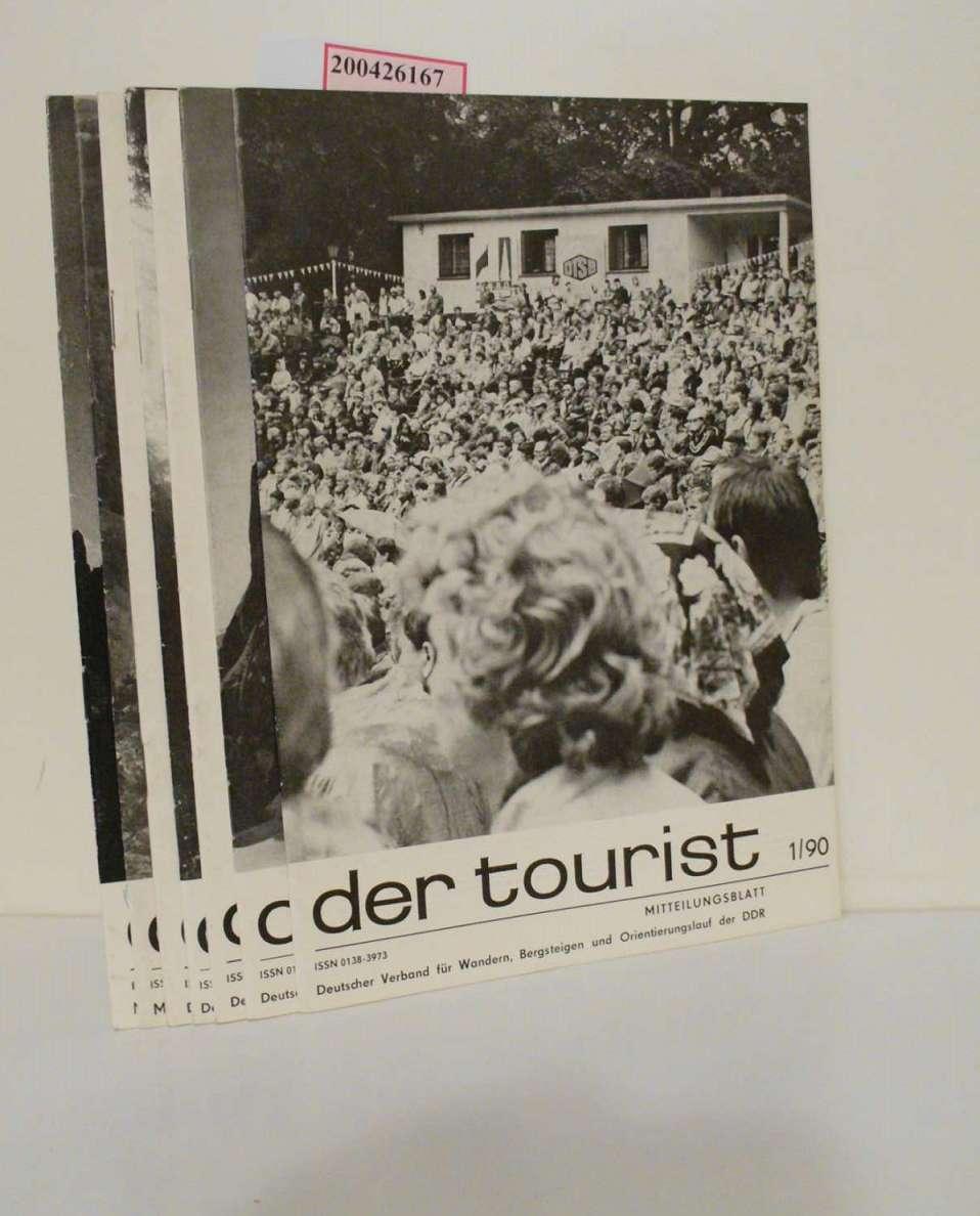 Der Tourist Nr.  1/90, 2/90, 3/90, 4/90, 5/90, 8/90, 9/90. Mitteilungsblatt