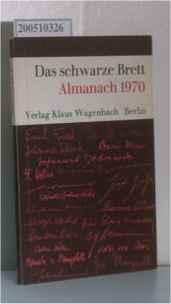 Das schwarze Brett - Almanach 1970