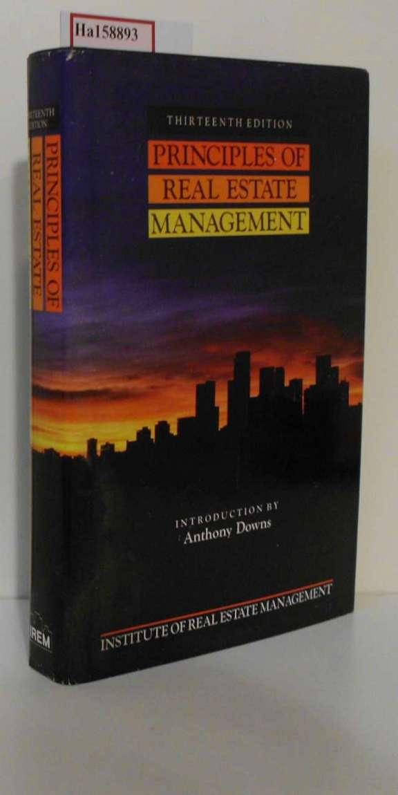 Anthony Downs (Autor): Principles of Real Estate Management [Englisch] [Gebundene Ausgabe] 13. th Edition