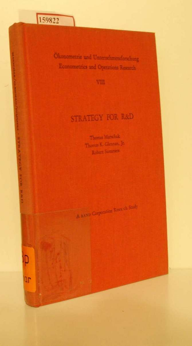 Strategy for R & D. Studies in the Microeconomics of Development.