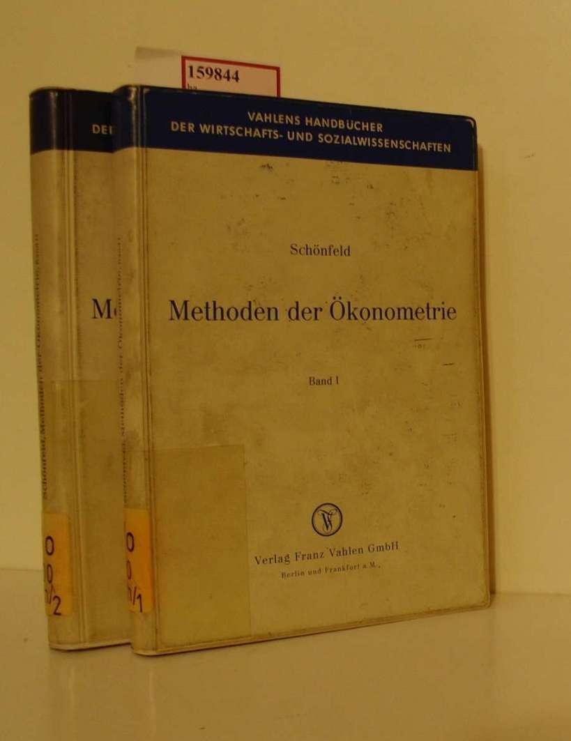 Methoden der Ökonometrie. Band I: Lineare Regressionsmodelle. Band II: Stochastische Regressoren und simultane Gleichungen. [2 Bd.].