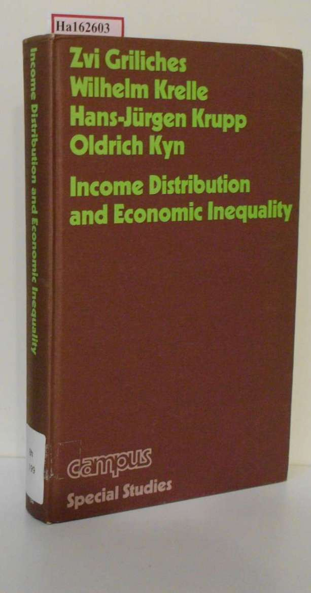 Griliches, Zvi a. o. (Edts.): Income Distribution and Economic Inequality.