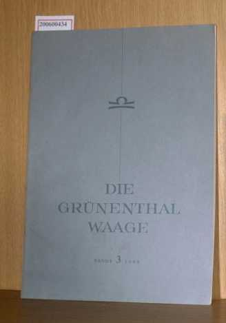 Die Grünenthal Waage, 3/1969 Band 8