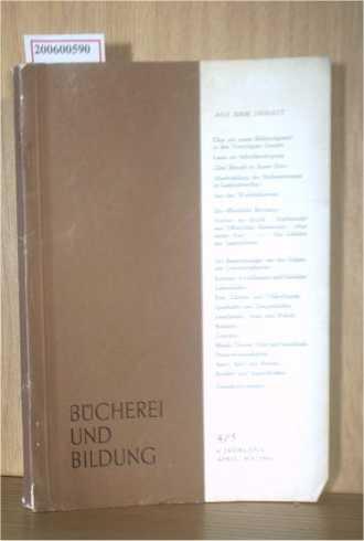 Zeitschrift Bücherei und Bildung 4/5 aus 1954