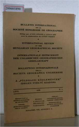 Internationale Zeitschrift der ungarischen geographischen Gesellschaft Nr. 1