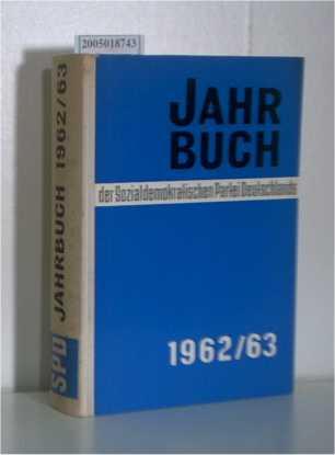 Jahrbuch der Sozialdemokratischen Partei Deutschlands 1962/63
