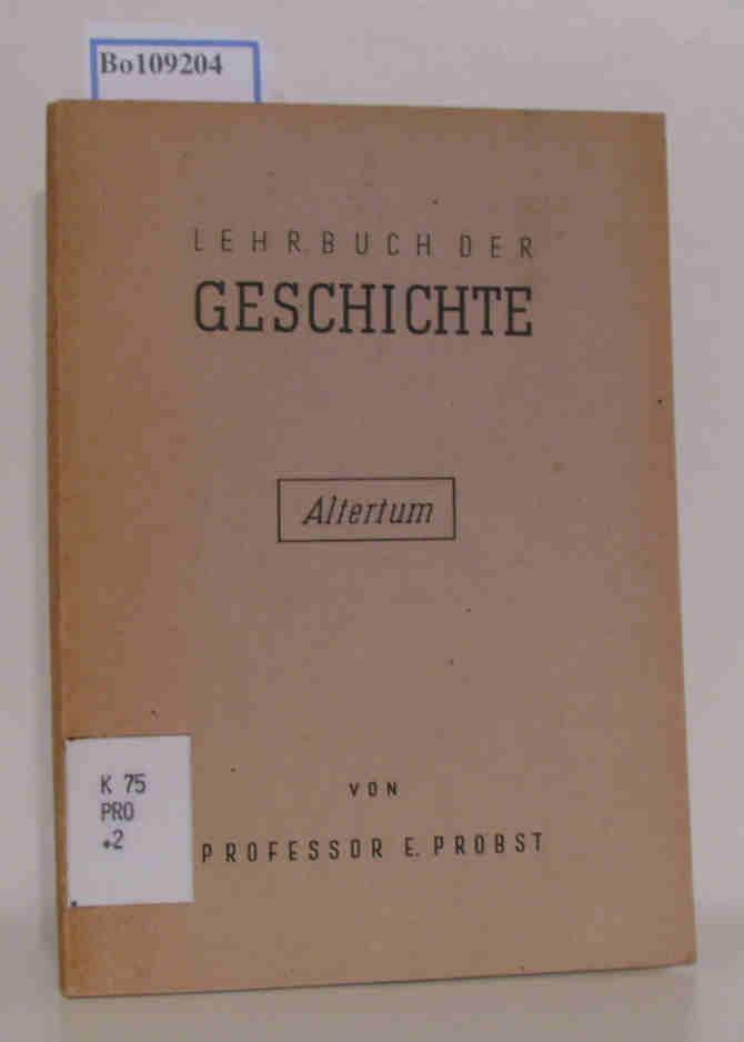 Lehrbuch der Geschichte Altertum