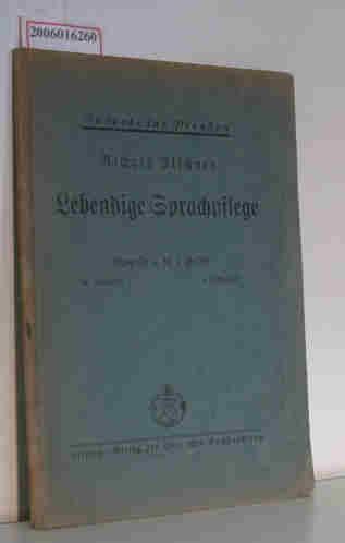 Alschner, Richard: Lebendige Sprachpflege - Ausgabe für Preußen - Ausgabe C 4. Lehrerheft - 5. Schuljahr