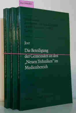 Die Beteiligung der Gemeinden an den Neuen Techniken im Medienbereich. (= Schriftenreihe des Instituts für Rundfunkrecht an der Universität zu Köln  Bd. 41).