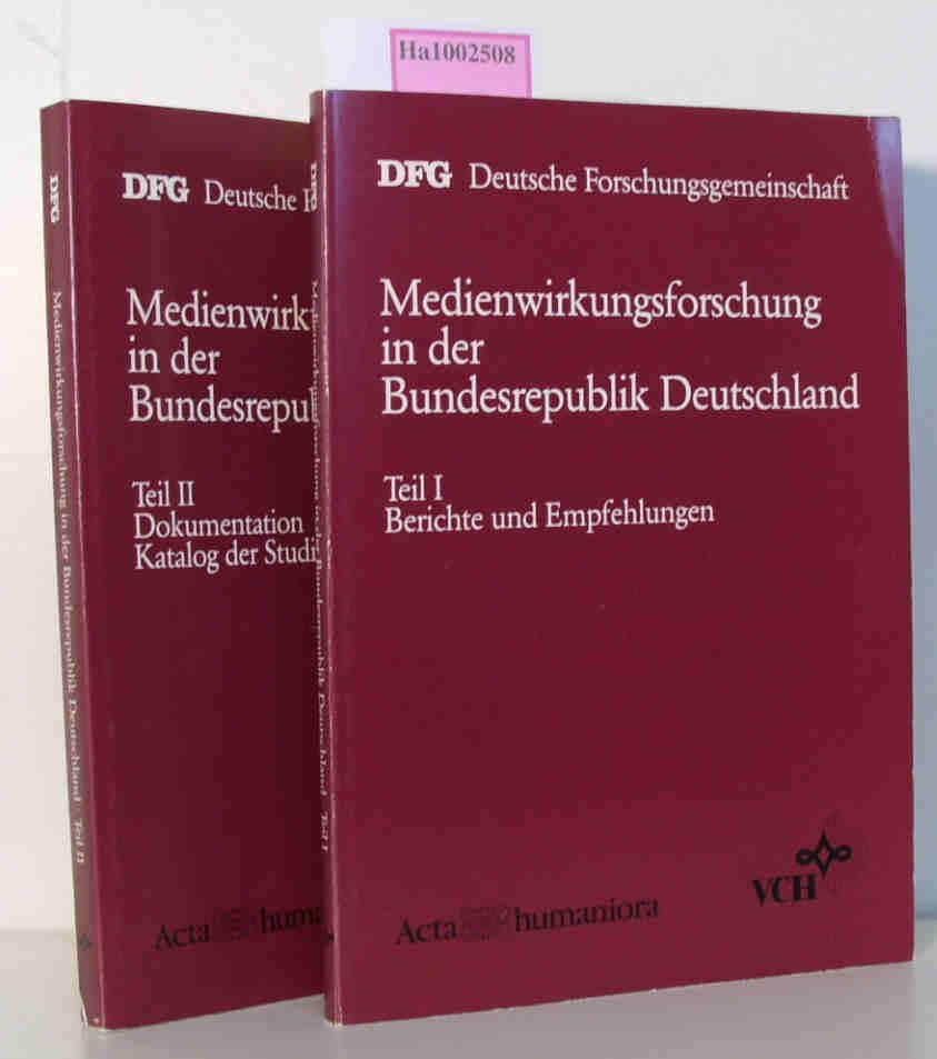 Medienwirkungsforschung in der Bundesrepublik Deutschland. Teil I: Berichte und Empfehlungen. Teil II: Dokumentation, Katalog der Studien.