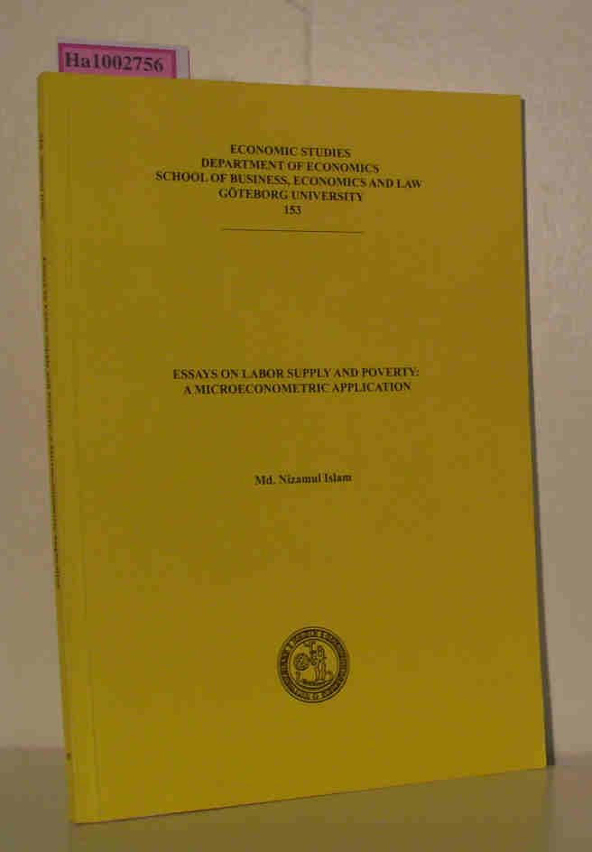 Islam, Md. Nizamul: Essays on labor supply and poverty: A microeconometric application 1