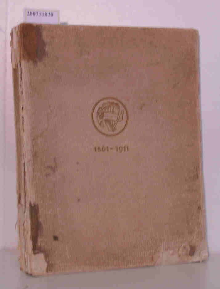 Geschichte des akademischen Gesangsvereins München 1861 - 1911