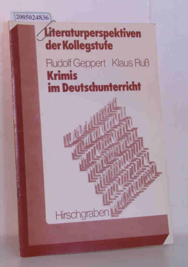 Krimis im Deutschunterricht