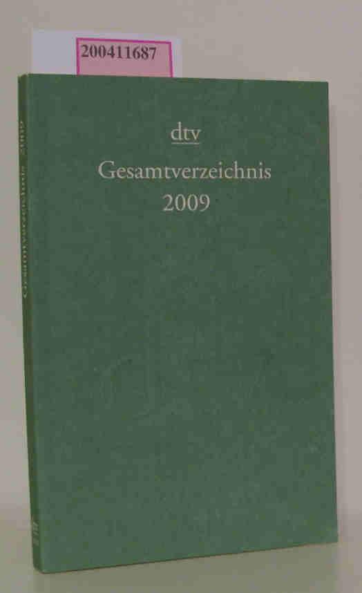 dtv Gesamtverzeichnis 2009