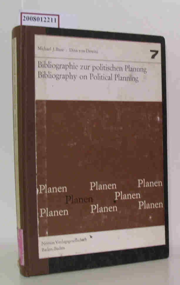 Bibliographie zur politischen Planung = Bibliography on political planning Band 7