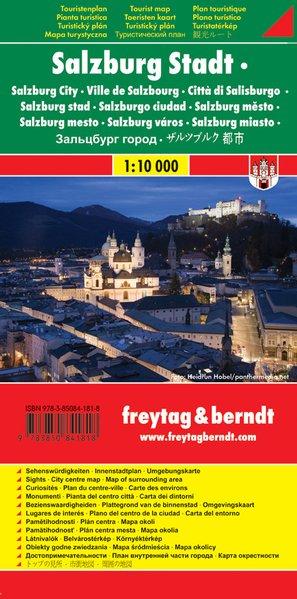 Salzburg Stadt, Stadtplan 1:10.000, Touristenplan, freytag berndt Stadtpläne - u. Artaria KG, Freytag-Berndt