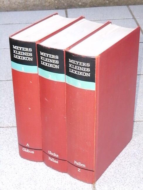 Meyers kleines Lexikon in drei Bänden (Band 1-3) 2. Nachdruck der 10., völlig neubearb. Auflage, 201.-300. Tsd.