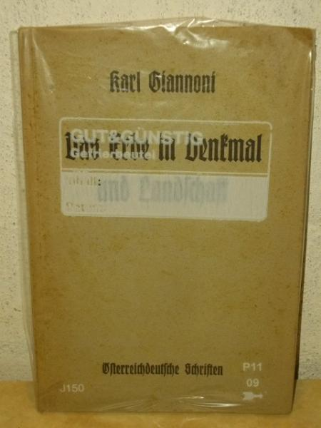 Giannoni, Karl: Das  Erbe in Denkmal und Landschaft Karl Giannoni