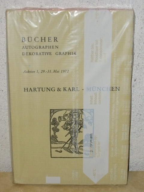 Bücher Autographen Dekorative Graphik Auktion 1, 29.-31.Mai 1972