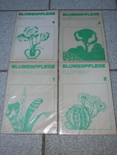 4 Hefte Blumenpflege: 1 Topfpflanzen, 2 Kakteen, 4 Hydrokultur, 5 Grünanlagen