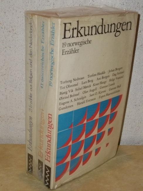 Erkundungen , 3 Bände: Bd. 21 Erzähler aus Belgien und den Niederlanden, Bd. 19 norwegische Erzähler, Bd. 41 österreichische Erzähler