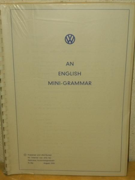 An english mini-grammar