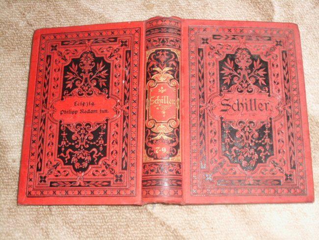 Schillers sämmtliche Werke in zwölf Bänden (hier: 7.-9. Band in einem Buch)
