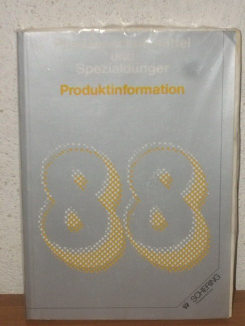 Pflanzenschutzmittel und Spezialdünger Produktinformation 1988