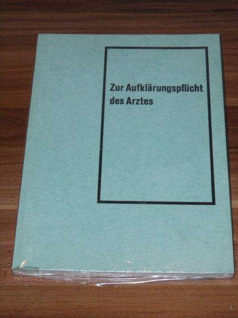 Die  Kontrastmittelanwendung in forensischer Sicht Ein Beitr. z. Aufklärungspflicht d. Arztes. Symposion, Heidelberg, am 14. Nov. 1964