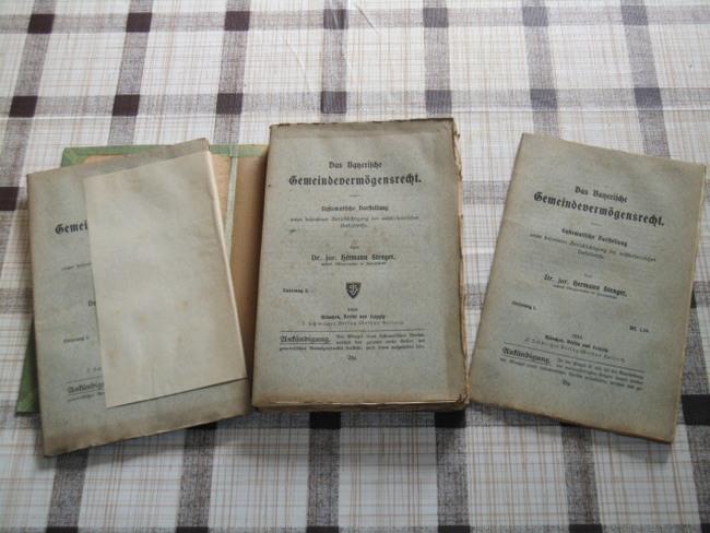Das Bayerische Gemeindevermögensrecht (Lieferung 1-4) Systematische Darstellung unter besonderer Berücksichtigung der rechtsrheinischen Verhältnisse