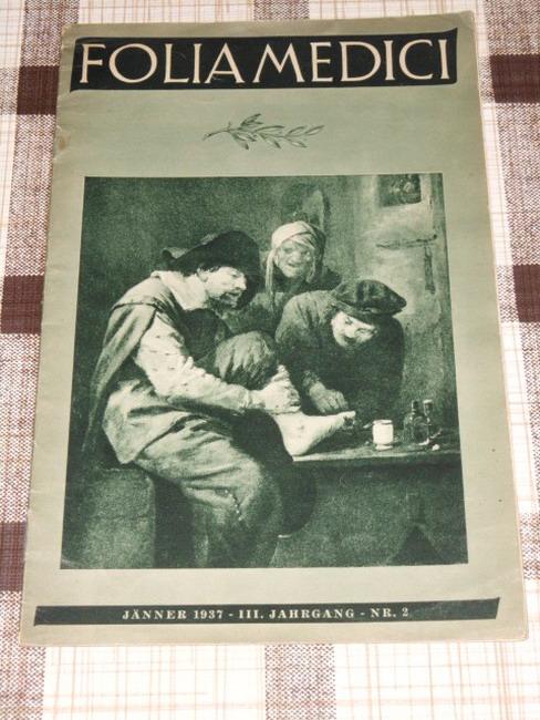 Folia Medici III. Jahrgang Heft Nr. 2 Jänner 1937