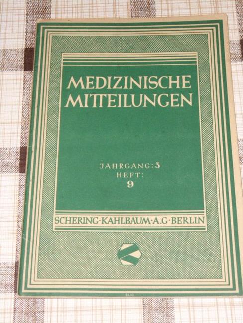 Medizinische Mitteilungen Jahrgang 3, Heft 9 Dezember 1931