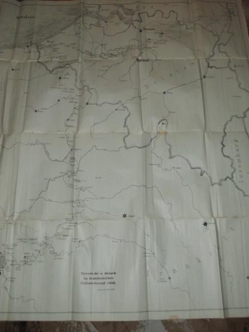 Karte Einsatz der 4. Batterie im Großdeutschen Freiheitskampf 1940