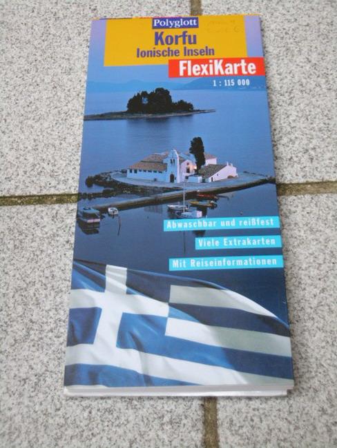Cristoffel-Crispin, Claudia: Korfu, Ionische Inseln (1:115 000) Textautoren: ..., Polyglott-FlexiKarte Aktualisierte Aufl. 2000/2001