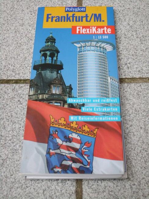 Frankfurt, M. (1:13 500) Textautor:, Polyglott-FlexiKarte 1. Aufl., [Ausg.] 1998/99 - Braunger, Manfred
