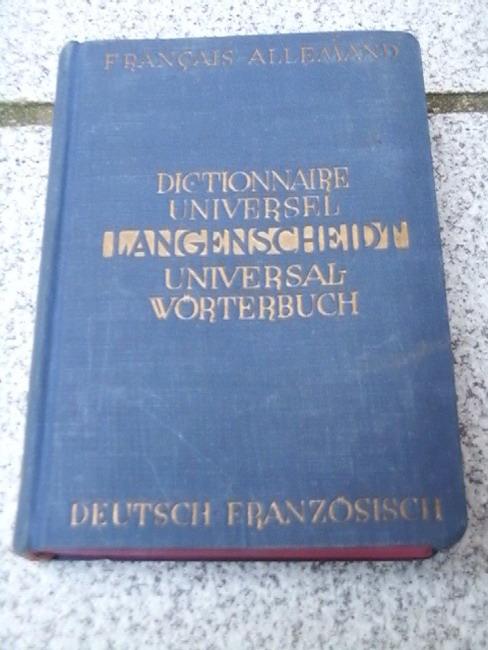 Langenscheidts Universal-Wörterbuch, Teil 1: Französisch-Deutsch + Teil 2: Deutsch-Französisch 2. Aufl.