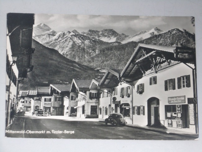 AK Mittenwald-Obermarkt mit Tiroler-Berge