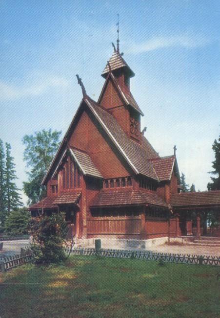 AK Kirche Wang, Karpacz, Krummhübel